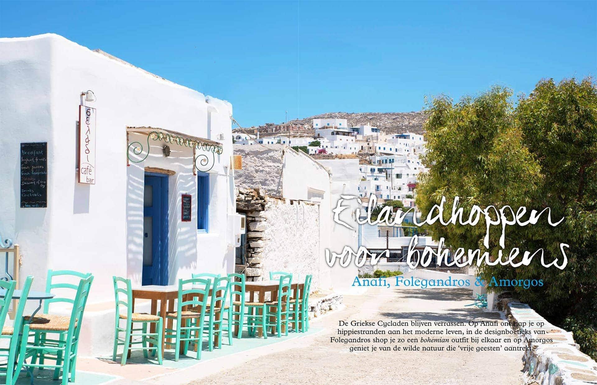 Journalistieke reisreportage Griekenland Amorgos Folegandros Anafi Cycladen